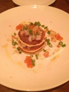 salmon and cream cheese, dinner, izakaya, chez sardine, gabe stulman, NYC