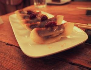 Dumplings, sour cherry, cherry izakaya, williamsburg, japanese