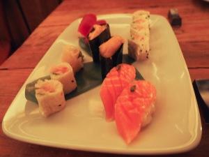 Seared Salmon Belly, Uni, Big Eye Tuna, cherry izakaya, williamsburg, japanese