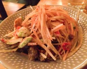 Papaya salad crab, Somtum Der, Isan Thai, NYC