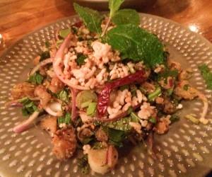 best thai nyc catfish salad, somtum der, isan thai, nyc, east village
