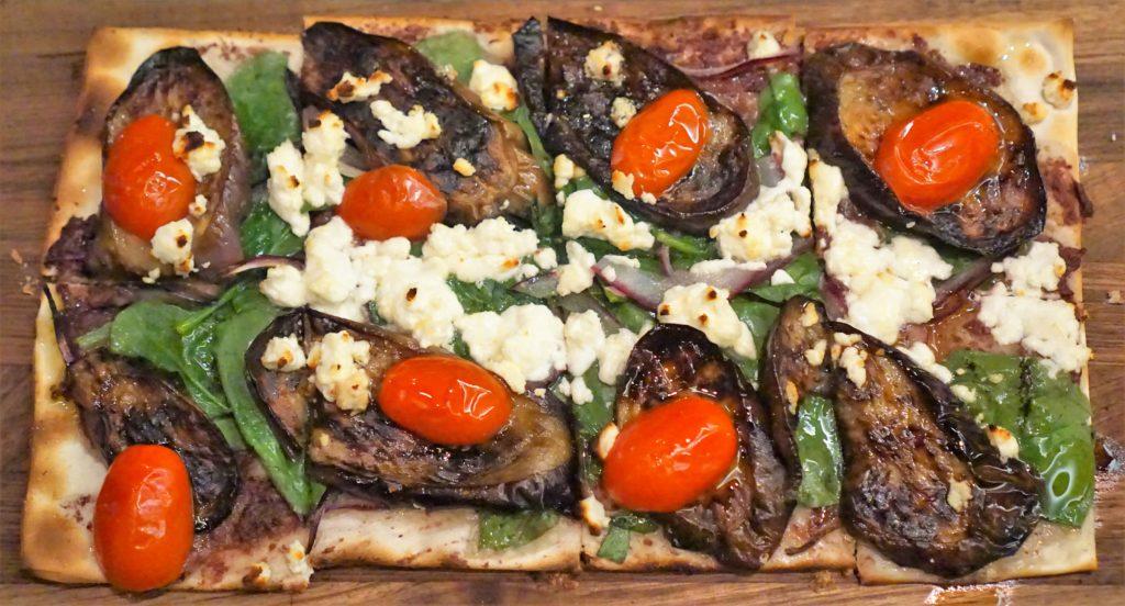 DBGB NYC, eggplant, tomato, goat cheese
