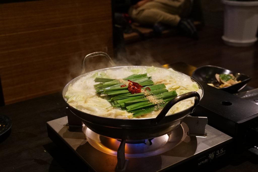 chicken guts stew fukuoka
